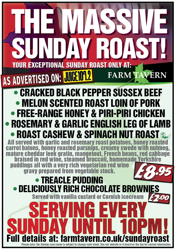 The Massive Sunday Roast Poster