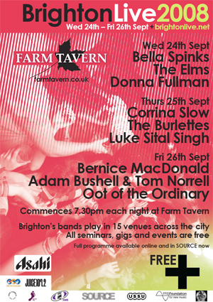 Farm Tavern hosts Brighton Live 2008