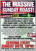 Farm Tavern Massive Sunday Roast Poster